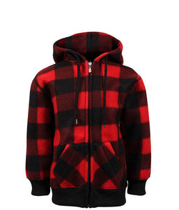 Kids/Youth Zip Up Plaid Jacket
