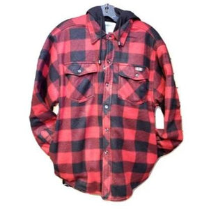 Plaid Polar Fleece Jacket - Adult