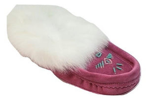Ladies Moccasins - Fuchsia