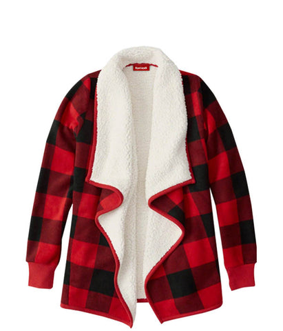 Ladies Plaid Sherpa Jacket