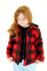 Plaid Polar Fleece Jacket - Kids/Youth