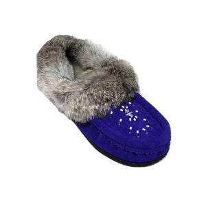 Ladies Moccasins with Crepe Sole - Royal Blue
