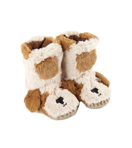Puppy Kids Fuzzy Slouch Slippers
