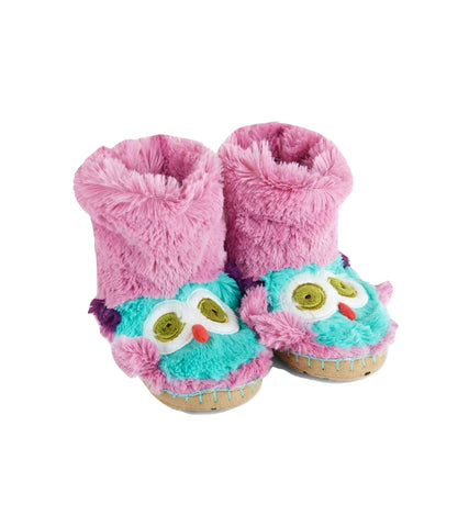 Owl Kids Fuzzy Slouch Slippers