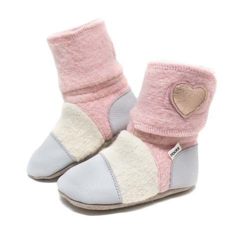 Children's Wool Booties - Snowberry