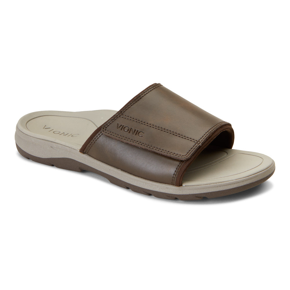 Stanley Slip On Sandal - Brown
