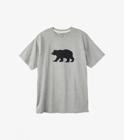 Black Bear on Grey Men's T-Shirt