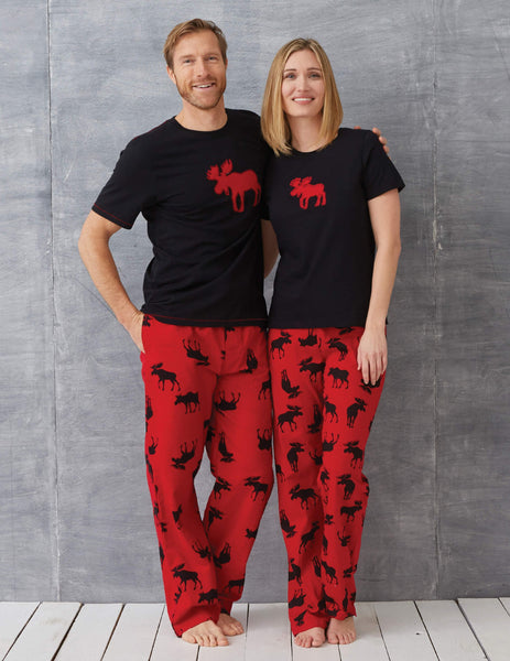 Black with Red Moose - Men's Tee