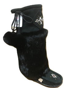 Tall Mukluks - Black Suede