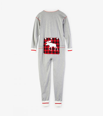 Canadiana Moose Union Suit - All Sizes