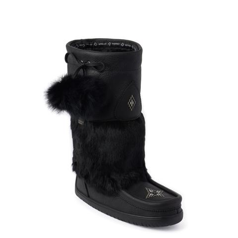 Waterproof Snowy Owl Mukluk - Black Grain