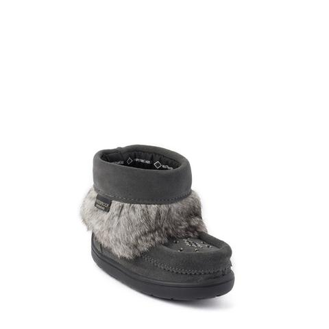 Waterproof Child Snowy Owl Mukluk - Charcoal Suede