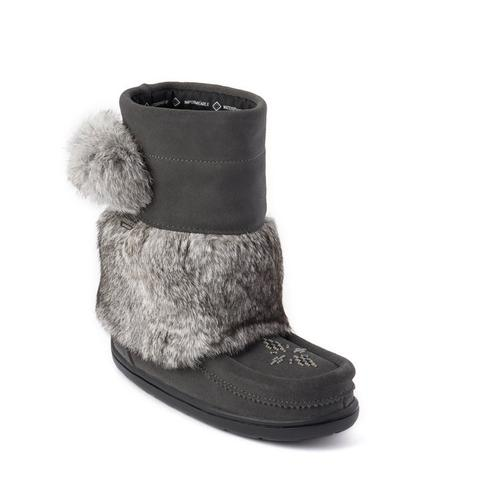 Waterproof Child Snowy Owlet Mukluk - Charcoal Suede