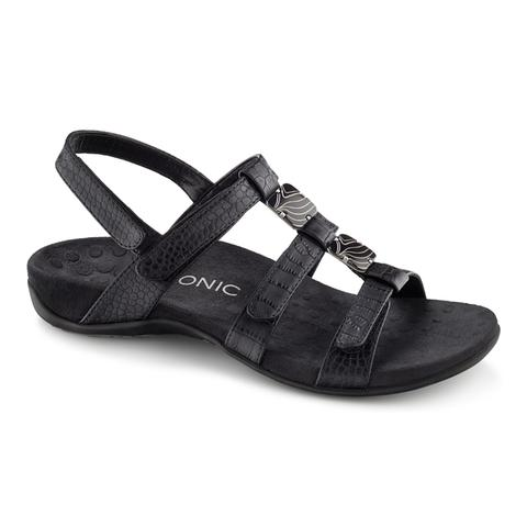 Amber Adjustable Sandal - Black