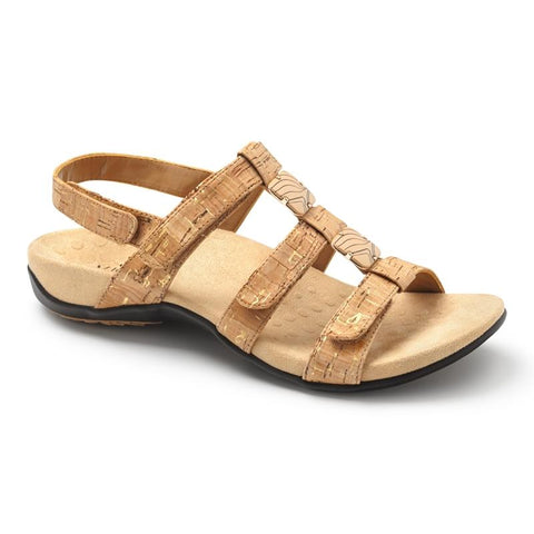 Amber Adjustable Sandal - Gold Cork