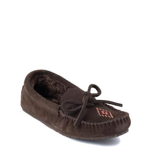 Canoe Suede Lined Moccasin - Dark Brown