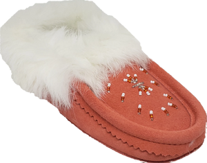 Ladies Moccasins - Coral