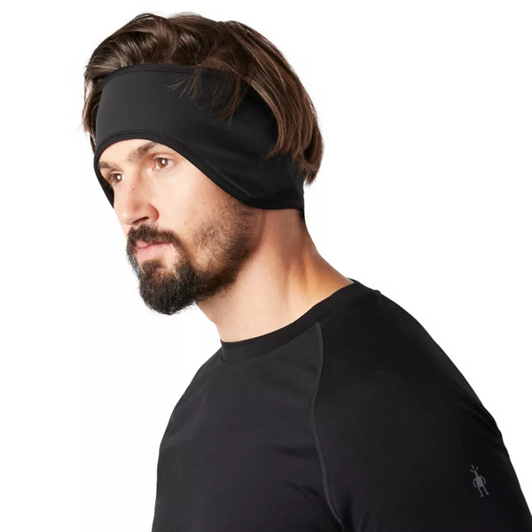 Merino Sport Fleece Wind Training Headband - Black