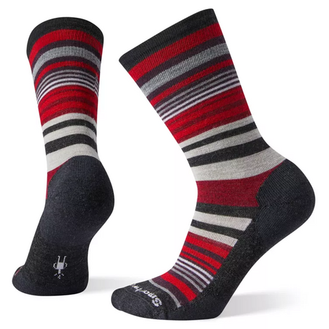 Women's Jovian Stripe Socks - Charcoal Heather