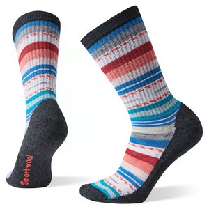 Women's Margarita Light Hiking Crew Socks - Black/Multi