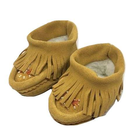 Children's Fringed Moccasins