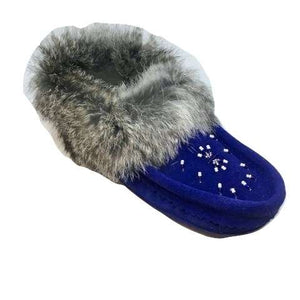 Ladies Moccasins - Royal Blue
