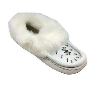 Nappa Leather Moccasins - White