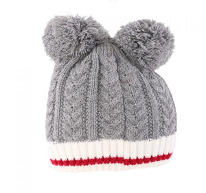 Kids Toque with double Pompoms