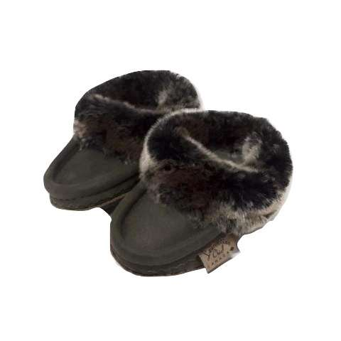 Children's Suede Leather Moccasins - Brown