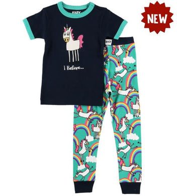 Lazy One - I Believe Unicorn Kids PJ Set