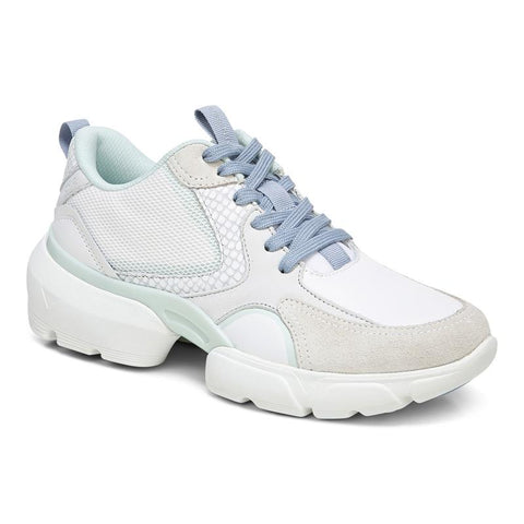 Aris Lace Up Sneaker - White Seafoam