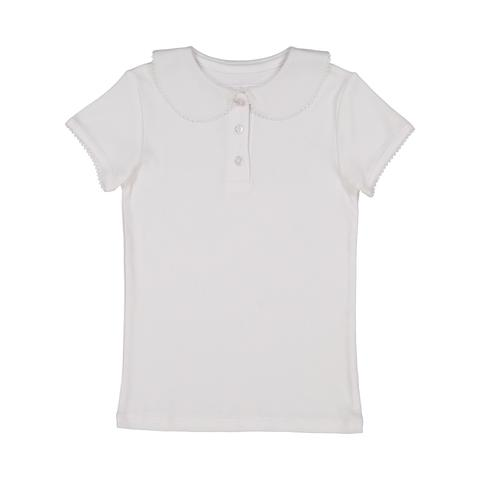 Girl's Peter Pan Tee-White