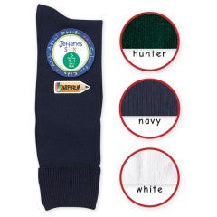 School Uniform Nylon Knee High-White