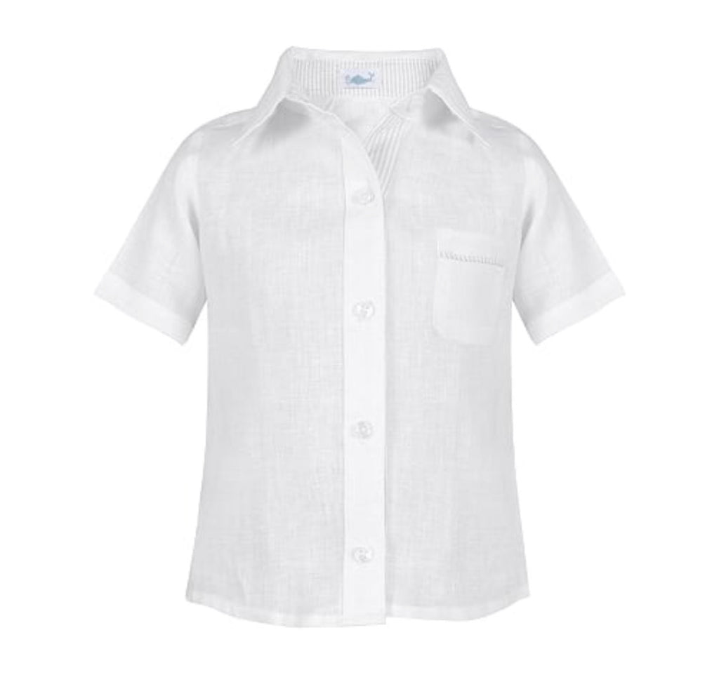 Linen Button Down-White