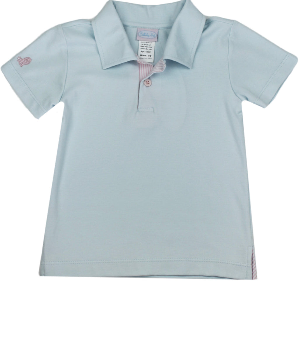Parker Polo-Blue/Pink 65th Anniversary