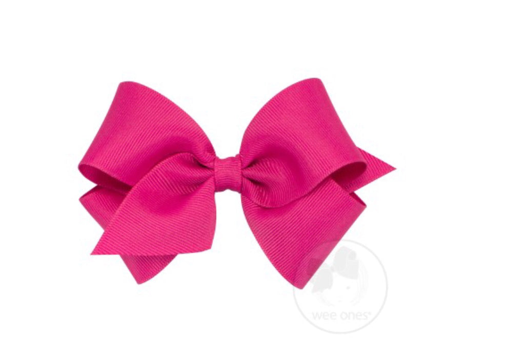 Classic Grosgrain Bow-Shocking Pink