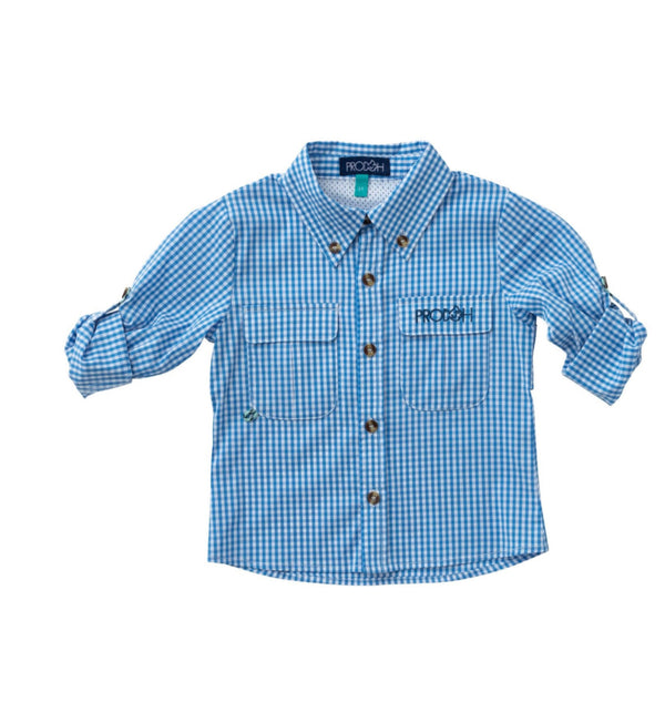 Windowpane Vented Back Fishing Shirt-Diving Hole