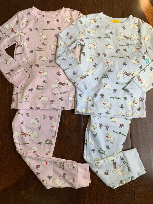 Sweet Dreams Christmas Lambs Pajamas-Pink