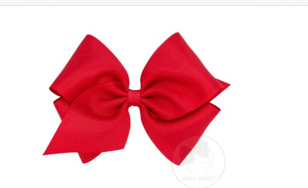 Classic Mini King Grosgrain Bow-Red