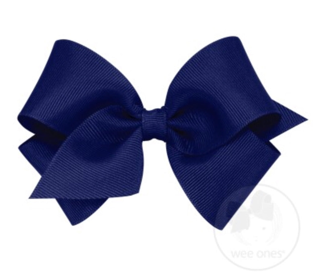 Classic Small Grosgrain Bow-Light Navy