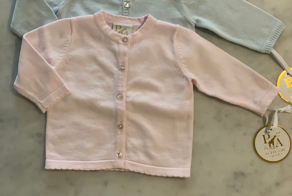 Pink Sweater with Scalloped Detail