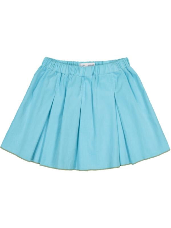 Sea Blue Cord Swing Skirt
