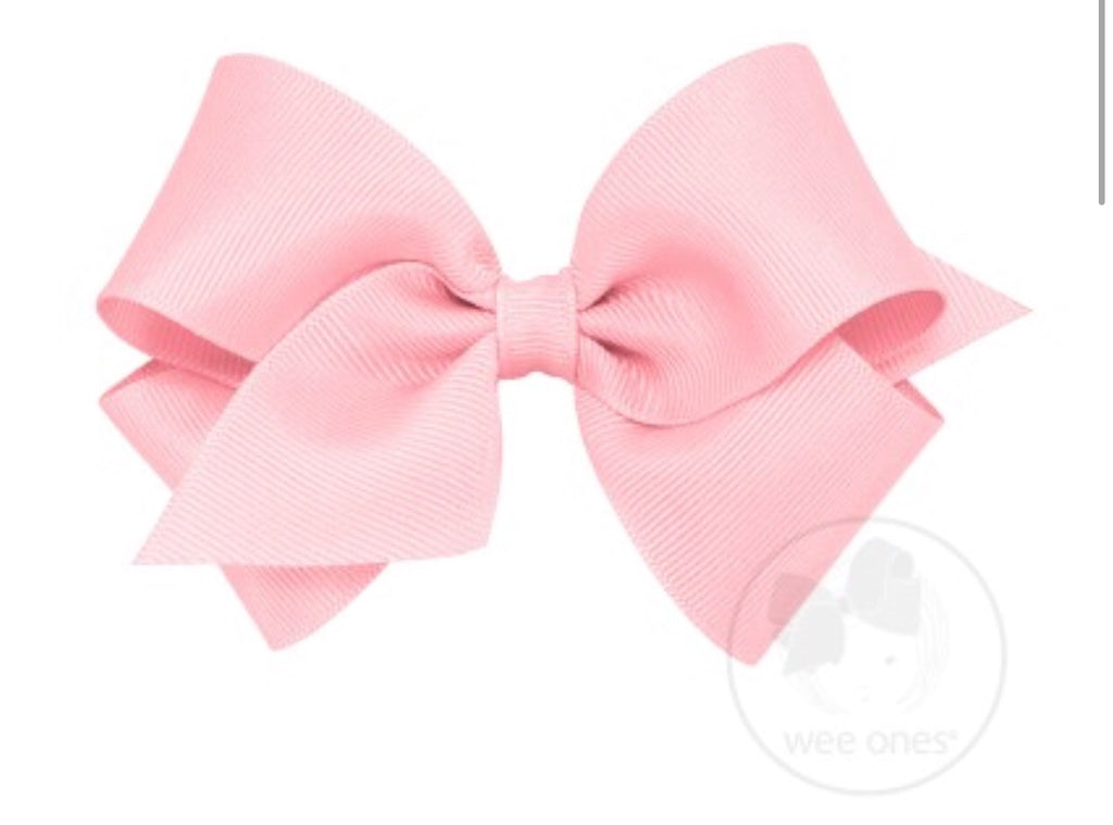 Classic Small Grosgrain Bow-Light Pink