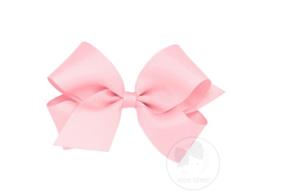 Classic King Grosgrain Bow-Light Pink