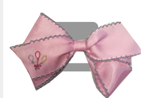 Make a Wish Embroidered Bow