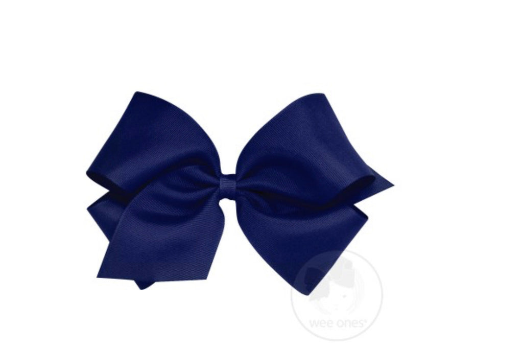 Classic King Grosgrain Bow-Navy