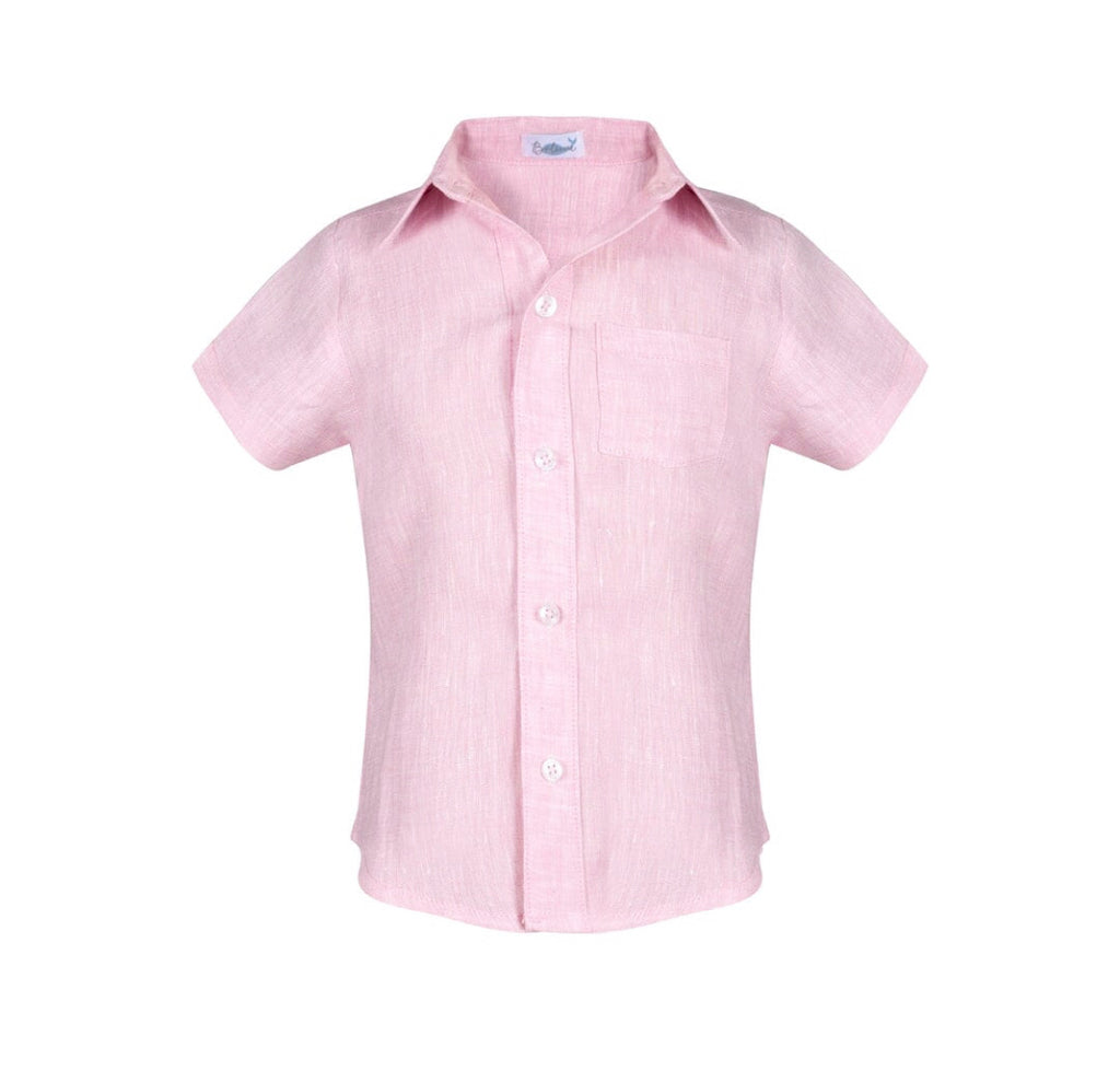 Linen Button Down-Pink