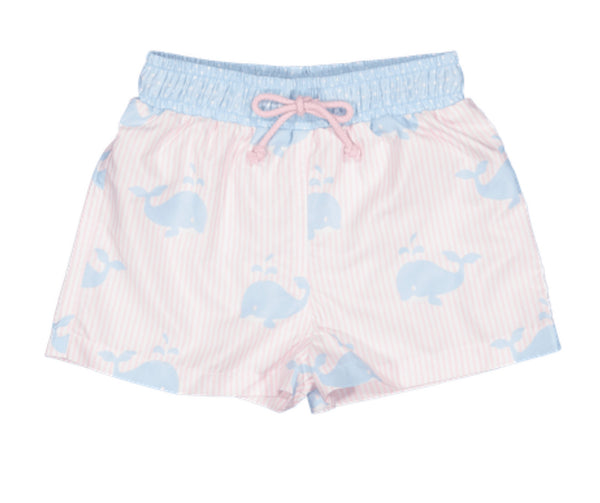 Think Big Swim Trunks-Pink and Blue