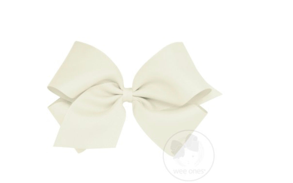 Classic King Grosgrain Bow-Ecru