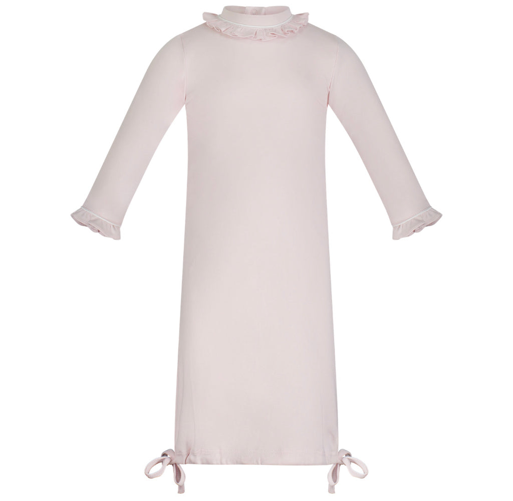 Georgia Pima Daygown-Light Pink with white Piping